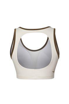 RAINHA TOP FLEECY II F - Top cim bijo removivel, viés em cor metálica contraste no decote e cavas, recorte nas costas para auxílio da respirabilidade da pele, logotipo em transfer.