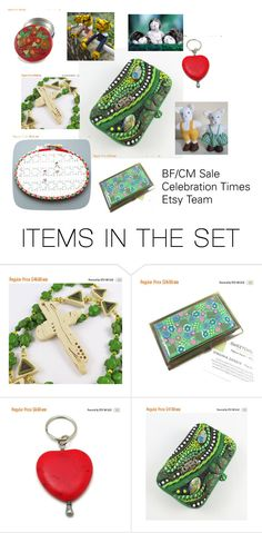 """""""BF/CM Sale Etsy Celebration Times Team"""" by sweetchildjewelry ❤ liked on Polyvore featuring art"""