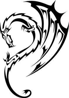Cool and Simple Tribal Black Dragon Tattoos Ideas #tribaltattoos - See more tattoos designs at Stylendesigns.com!