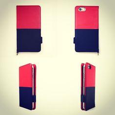 【 本革 + 日本製 】絵になるオトナの iPhoneケース   iPhone 6/6s & Plus 対応   Genuine Leather Wallet Case for iPhone 6 / 6s and iPhone 6 / 6s Plus.  Vin x Noir.