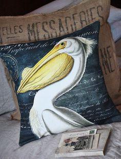 Pillow Cover Cotton and Burlap Pillows