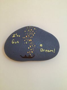 Disney's Tangled painted rock by TheFandomArts on Etsy
