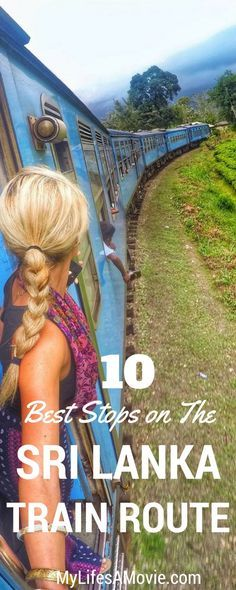 10 Best Stops on the Sri Lanka Scenic Train Route! Sri Lanka is the most perfect place to take a train around the country! It's safe, cheap, easy, and you'll see some beautiful scenery, like tea fields, mountains, and waterfalls! Here's a full, informative guide to seeing the 10 best stops along the Sri Lanka scenic train route! - Mylifesamovie.com