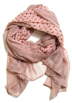 Lots of Dots Scarf: Pink: Spotted Moth, Chic and sweet clothing and accessories for women