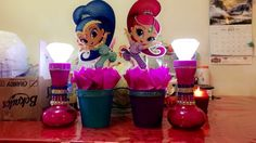 Shimmer and Shine Centerpiece Birthday Party Ideas All Supplies Found At Dollar Stores around Town