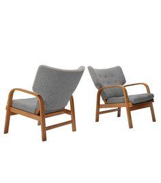 Magnus Stephensen; Beech Easy Chairs for Fritz Hansen, 1932.