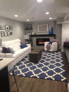 Gray And Navy Living Room That S What I Ll Do Been