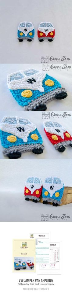 vw camper van applique crochet pattern