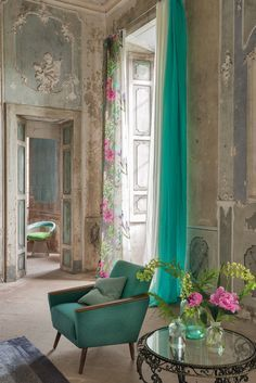 DESIGNERS GUILD AUTUMN / WINTER 2014 COLLECTION  Loved the curtains