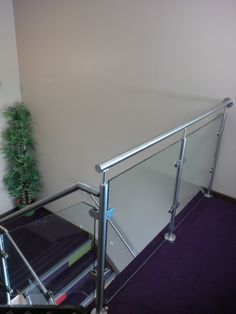Stainless Railing with Glass Panels