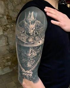 Tattoos Ideas For Guys Samurai Tattoo Sleeve, Samurai Warrior Tattoo, Armor Tattoo, Warrior Tattoos, Viking Tattoos, Norse Tattoo, Cool Arm Tattoos, Hand Tattoos, Sleeve Tattoos
