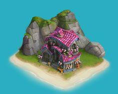 "ArtStation - Buildings for social game ""loyalty"", Artem Hodas Environment Concept, Environment Design, Buildings Artwork, Social Games, Fantasy House, Game Assets, Game Design, Game Art, Concept Art"