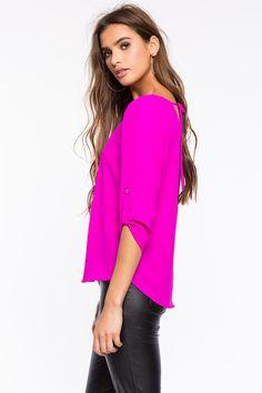 Блуза Размеры: S, M, L Цвет: ярко-синий, малиновый, зеленовато-голубой Цена: 1258 руб.   #одежда #женщинам #блузы #коопт