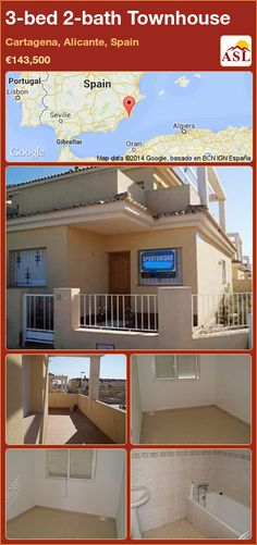 3-bed 2-bath Townhouse in Cartagena, Alicante, Spain ►€143,500 #PropertyForSaleInSpain
