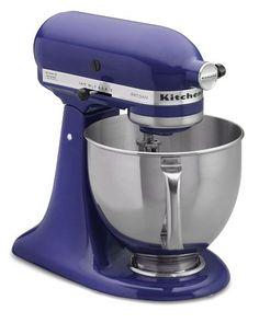 Oohh...Ahhh...Kitchenaid Stand Mixer in Cobalt Blue.  Isn't she beeeauuutifull?