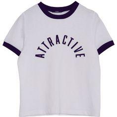 カラーLOGO T/S ❤ liked on Polyvore featuring tops, t-shirts, shirts, tees, tee-shirt, t shirt and shirt top