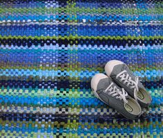 Woven Rag rug from t shirts