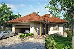 Projekt domu Morgan III 107,05 m2 - koszt budowy - EXTRADOM Gazebo, Pergola, 2 Bedroom House Plans, Outdoor Structures, Outdoor Decor, Home Decor, Architecture, Projects, Kiosk