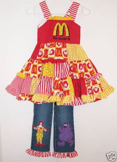 McDonalds Throwback outfit for little girl