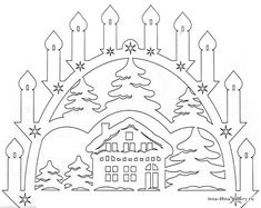 Decoration of windows on Christmas and New Year. And stencils. - Club New Year's Ideas and Prepare sleighs in summer. Christmas Stencils, Christmas Templates, Christmas Crafts, Decorating With Christmas Lights, Christmas Decorations, Paper Cutting, Kirigami Templates, Decoupage Box, New Years Decorations