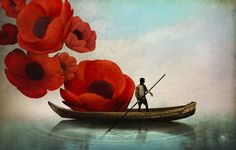 Poster | RED FLOWERS von Christian Schloe | more posters at http://moreposter.de