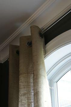 Julie's burlap curtains: Dining Room