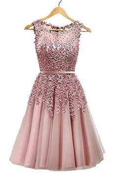 EnjoyBridal Women Short Tulle Lace Pearls Prom Homecoming Dress  https://www.amazon.com/gp/product/B01F34MA4G/ref=as_li_qf_sp_asin_il_tl?ie=UTF8&tag=rockaclothsto-20&camp=1789&creative=9325&linkCode=as2&creativeASIN=B01F34MA4G&linkId=d77dbd640eb857ad286dc0254032ff0e