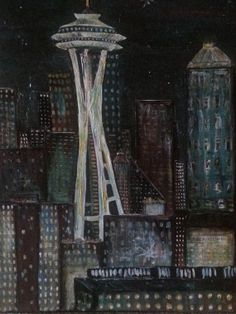 Seattle by EnserCreations on Etsy, $100.00