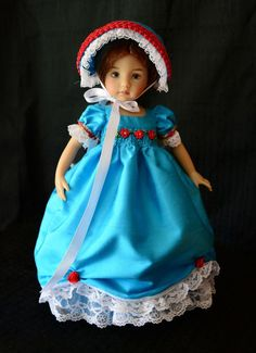 """SOLD """"Sky Blue""""Regency Dress,Outfit,Clothes for 13""""Effner Little Darling -Lumi #ClothingAccessories"""