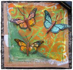 De Stempelwinkel - Designteam      : butterflies
