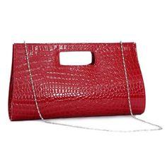 Crocodile skin pattern design retro #red #clutch evening purse