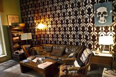 Behind the scenes of Sherlock: The set of 221B.for reference.. for our bedroom!