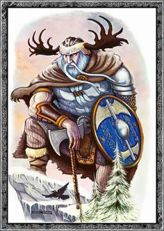Búri was the first god in Norse mythology. He is the father of Borr and grandfather of Odin.