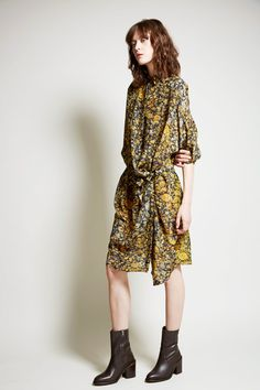 Anntian Silk Big Shirtdress in Yellow Stone