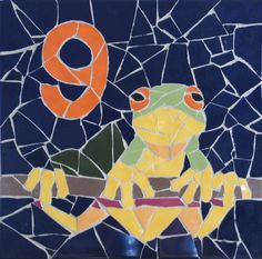 Frog Design House Number Plaque by jenzartcreations on Etsy, $71.00