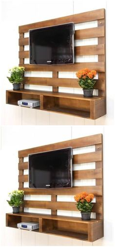 Here we are bringing you the latest pallet ideas for home decor that will make your home delicate and full of glamor in appearance.Wooden Pallet TV Stand