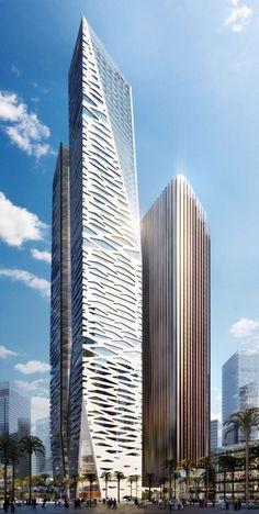 King Abdullah Financial District Parcel by Gensler ,Arabia Saudita