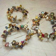 Multi Color Freshwater Baroque Pearl Wrap Bracelets