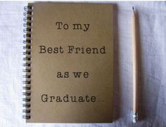 I hope there is someway I can Graduate with my best friend or get this from them anyhow.To my Best Friend as we Graduate. - write the story of how you and your best friend became best friends. Graduation Presents, Grad Gifts, College Graduation, Graduation Ideas, Graduation Gifts For Best Friend, Graduation Speech, Best Friend Gifts, Your Best Friend, Best Friends