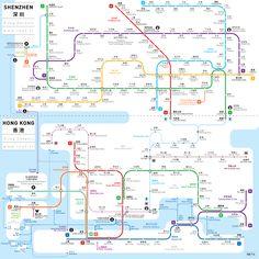 Shenzen - Hong Kong Metro Map