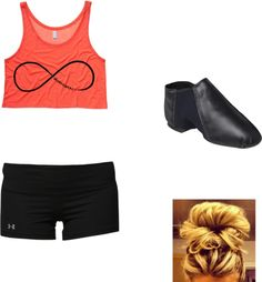 """Jazz dance outfit((:"" by madisonlawrey ❤ liked on Polyvore"