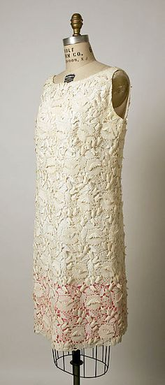 Evening dress - Evening dress Design House: House of Balenciaga (French, founded 1937) Designer: Cristobal Balenciaga (Spanish, Guetaria, San Sebastian 1895–1972 Javea) Date: 1968–68 Culture: French Medium: cotton Dimensions: [no dimensions available] Credit Line: Gift of Baroness Philippe de Rothschild, 1973