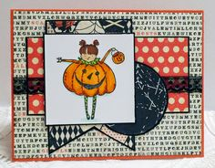 Recollections handmade Halloween card with Authentique papers