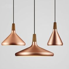 Decorate your home, office, restaurant or shop in modern Nordic style with a stunning matte metallic pendant lamp! Copper Pendant Lights, Cheap Pendant Lights, Modern Pendant Light, Pendant Lighting, Pendant Lamps, Modern Chandelier, Cheap Lighting, Retro Lighting, Modern Lighting