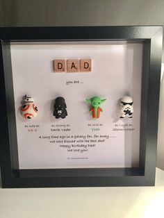 Star Wars personalisierte Rahmen Papa du bist mein Vater day gifts Star Wars Personalised Frame - Daddy you are my Father - Father's Day- Special Gift- star wars gift Diy Father's Day Gifts, Father's Day Diy, Craft Gifts, Craft Presents, Fun Gifts, Regalos Star Wars, Cadeau Star Wars, Happy Birthday Dad, Father Birthday Gifts