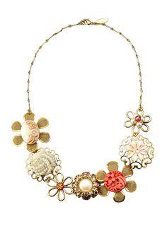 Lenora Dame multi-flower charmed necklace