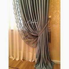 Tuscan style – Mediterranean Home Decor Elegant Curtains, Beautiful Curtains, Modern Curtains, Curtain Styles, Curtain Designs, Home Living Room, Living Room Decor, Bedroom Decor, Home Curtains