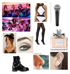 """""""With little mix performing"""" by hey-shanay on Polyvore featuring Otis Jaxon, Christian Dior, Wolford and Valentino"""