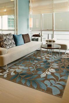 Nourison Harmony Rug   Mocha. Blue And Brown Living RoomNourison ...