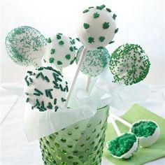 St. Patrick's Day Cake-pops!